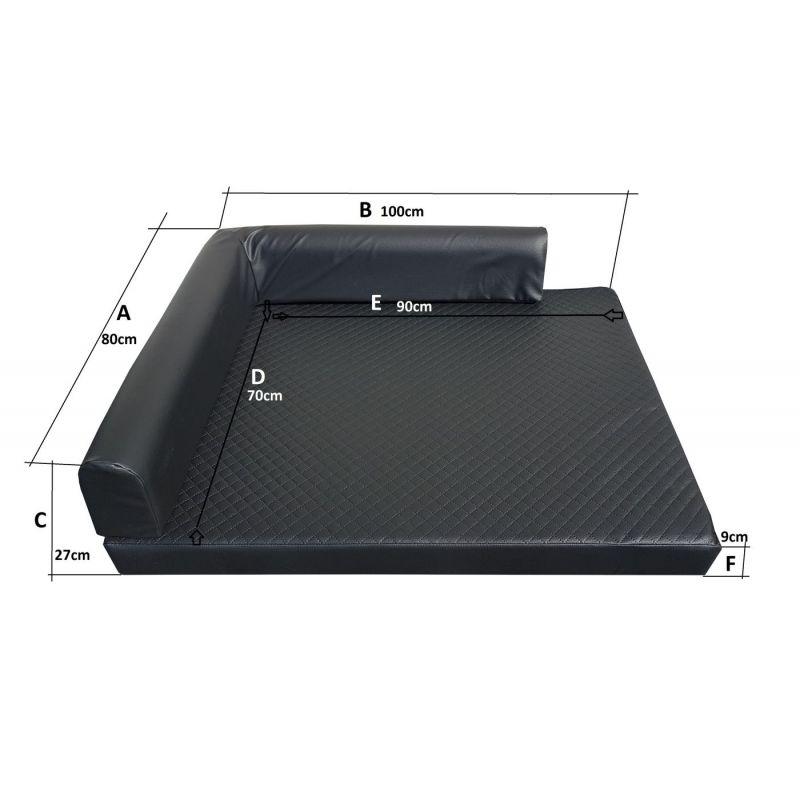 Folding mattress cover 195x65x10 cm - 3100