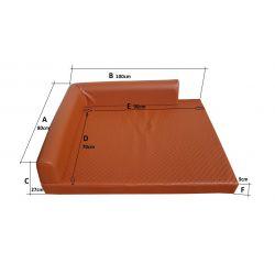 Folding mattress cover 195x65x10 cm - 1000