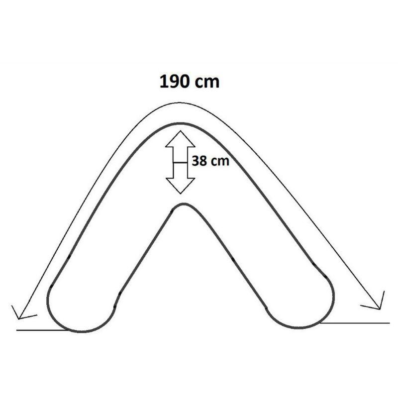Folding mattress cover 195x65x8 cm - 1331