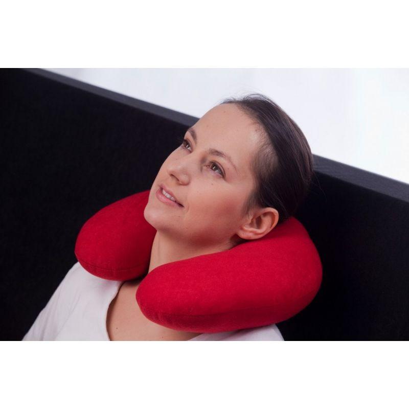 Poduszka podróżna, poduszka na szyję- szara