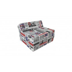 Fotel materac składany 200x70x10 cm - LONDON2