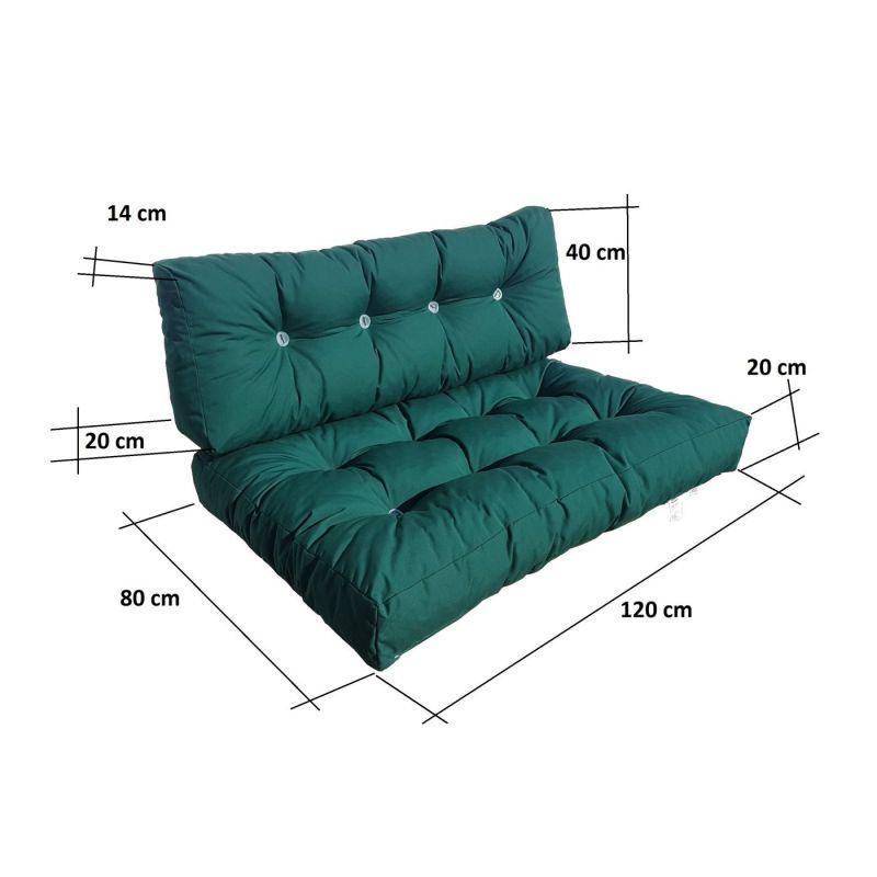 Pokrowiec na sofę, materac składany 200x120x10 cm-1331