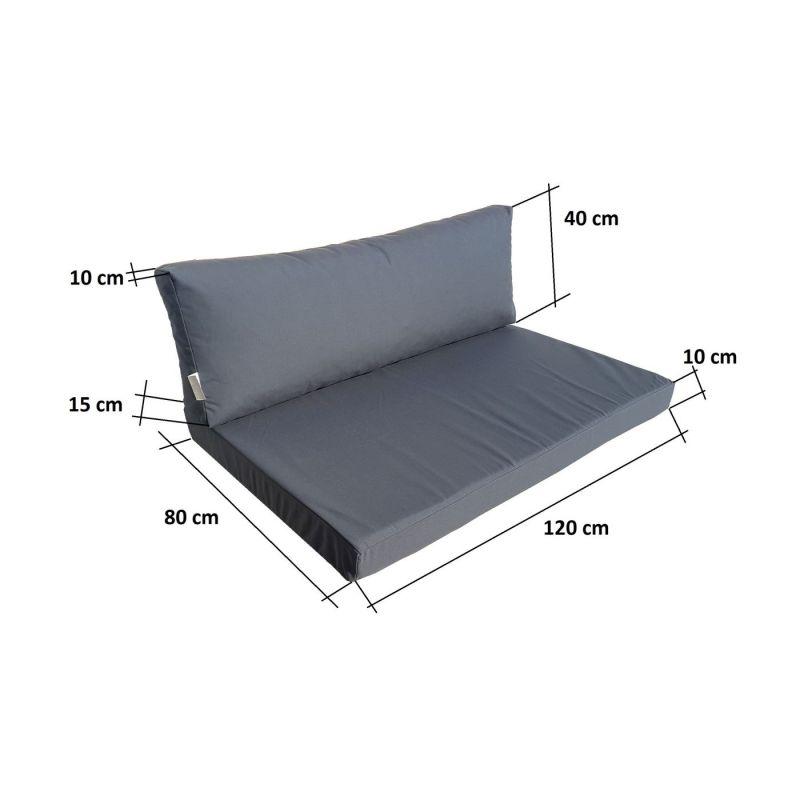 Pokrowiec na sofę, materac składany 200x120x10 cm- GARDEN