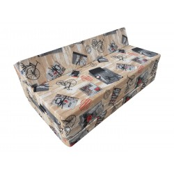 Fold Out Sofa Cover 200 cm x 120 cm x 10 cm- PRESS