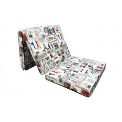 Folding mattress cover 198x80x10 cm - PARIS