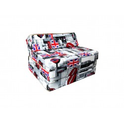 Fold Out Guest Chair Cover 200x70x10 cm - LONDON