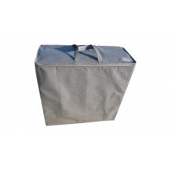 Storage bag for folding mattress with headrest 200x70x10 cm - grey