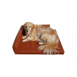 Orthopedic dog cornerbed 80 x 60 cm Lux brown S