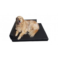 Orthopedic dog cornerbed 100 x 80 cm Lux black M