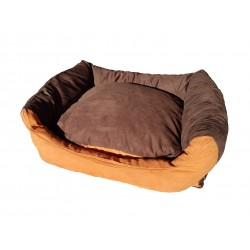 Dog bed Max- size L - brown/orange