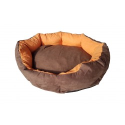 Dog bed Nora- size M - brown/orange