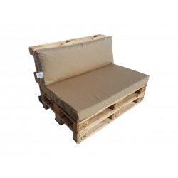Pallet seating cushions set with zip light brown