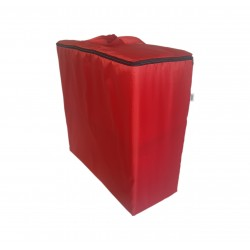 Water repellent storage bag for folding mattress 200x70x10 cm red
