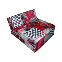 Fold Out Guest Chair  Cover for Children 160x60x12 cm - Cars