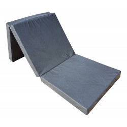 Gymnastic folding mattress 195x65x8 cm  grey