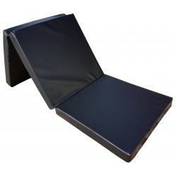 Gymnastic folding mattress 195x65x8 cm  black