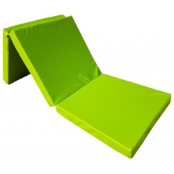 Gymnastic folding mattress 195x65x8 cm green