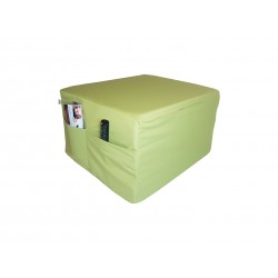 Folding mattress visco LUX cube 195x75x15 cm light green