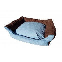 Dog bed Max- size S - brown/blue