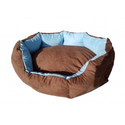 Dog bed Nora- size M - brown/blue