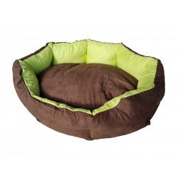 Dog bed Nora- size L - brown/green