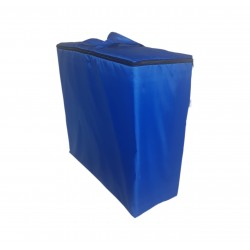 Water repellent storage bag for folding mattress 195x65x8 cm blue