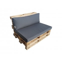 Pallet seating cushions set with zip anthracite