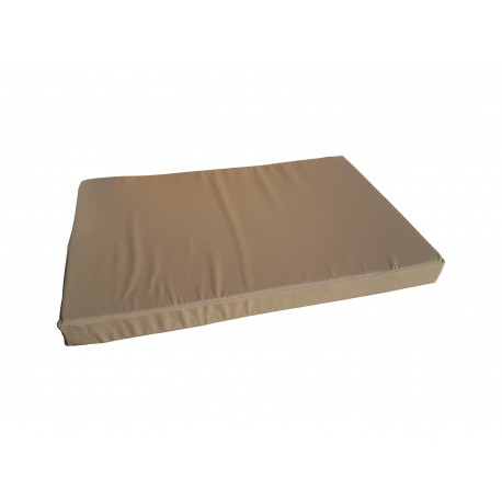 Pallet garden seating cushion with zip light brown